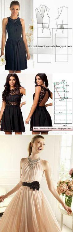 Платья + выкройки(5 часть).