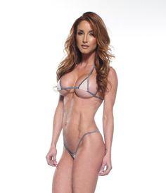 13cf51e43ce7 Solid Nude/Beige Euro Style Micro G-String Bikini 2pc Mini Triangle Top  Extreme
