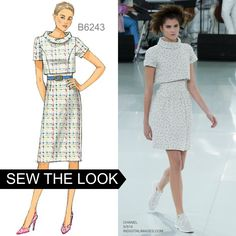 Sew the Look: Butterick B6243 fitted dress sewing pattern.