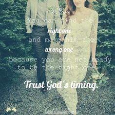trust God's timing