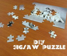 Want to learn how to make your own personalized jigsaw puzzle? Well, if so, you've come to the right place! This DIY Jigsaw Puzzle measures approx. inches by. Photo Jigsaw Puzzle, Picture Puzzles, Jigsaw Puzzles, Silouette Cameo Projects, Silhouette Cameo Tutorials, Puzzle Crafts, Best Jigsaw, Personalized Puzzles, Woodworking Jigsaw