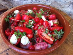 Harvest time in Central Otago ...goodies from the garden, picked and prepared for making slow roasted tomato soup.