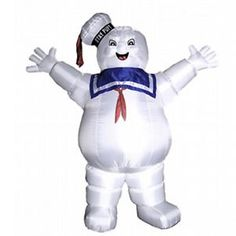 Inflatable stay puff marshmallow man- would go great with our GB car! Awesome Halloween decorations for the front of the house!