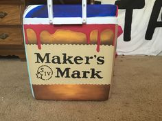 Makers mark painted cooler