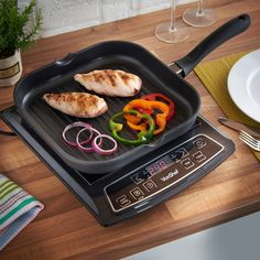 VonShef 11 Inch Non-Stick Cast Aluminum Clean Square Grill/Griddle Pan for Any Stovetop Griddles, Griddle Pan, Grilling, It Cast, Cleaning, Kitchen, Amazon, Free, Cooking