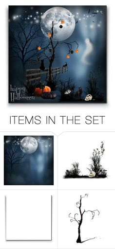 """""""Halloween!"""" by tygriss ❤ liked on Polyvore featuring art, Halloween and decor"""