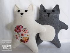Baby Cat Sewing Pattern and Tutorial PDF by CreateJoyMakeStuff