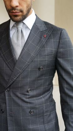 "Via sartoriomerta: ""Isaia double breasted suit, Angel bespoke shirt and Barba Napoli tie."""
