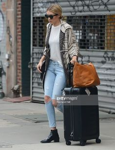 Super Model Gigi Hadid is seen walking in Soho on April 9, 2015 in New York City.