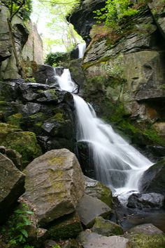 Travel, Lumsdale: The waterfalls of Lumsdale in the Peak District of Derbyshire, Britain