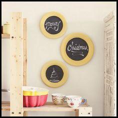 Chalkboard Plates