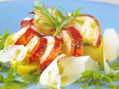 Lagosta Poché com Batatas e Salada de Rúcula