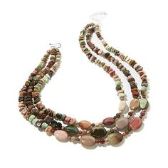"""Jay King 3-Row Multicolored Imperial Agate 18"""" Necklace"""