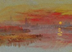 'The Sacarlet Sunset', William Turner.