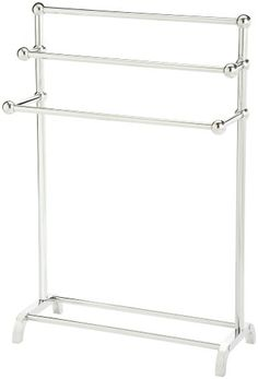 Taymor 3-Tier Floor Towel Valet, Chrome, 2015 Amazon Top Rated Towel Racks #Home