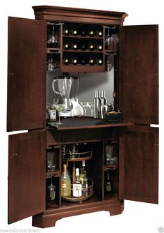 Howard Miller 695-111 Norcross - CORNER Wine & Bar Cabinet in Cherry Finish #HowardMiller