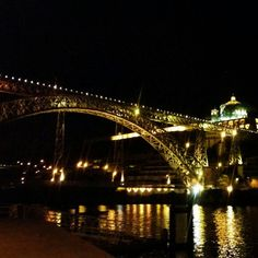 Ponte de D. Luis I by night #Porto #portugal #pontedeluis #bynight