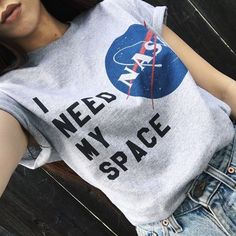 i need my space shirt | how to wear graphic tees outfit ideas | melonkiss #ootd