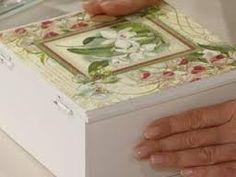 Resultado de imagen para decoupage paso a paso utilisima Ideas Para, Decorative Boxes, App, Images, Home Decor, Napkins, Boxes, Manualidades, Cooking