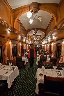 Soak up the countryside aboard the ravishing Rovos Rail - one of the best train trips in the world.....