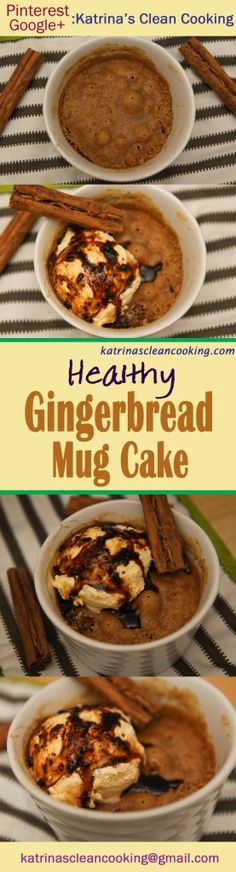 Gingerbread mug cake Katrina's Clean Cooking