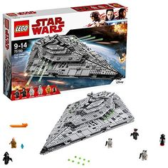 Lego Star Wars - First Order Star Destroyer, Multicolore, 75190 Star Destroyer, Lego Star Wars, Star Wars Art, Star Trek, Lego Building Sets, Building For Kids, Lego City, Engine Detailing, Nave Star Wars