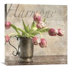 Global Gallery Dutch Tulips II by Gaetano Graphic Art on Wrapped Canvas Size: