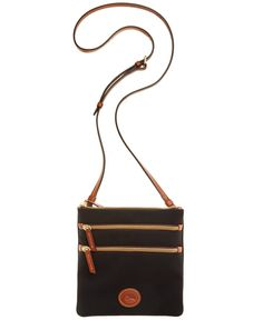 Dooney & Bourke North South Triple Zip Nylon Crossbody - Handbags & Accessories - Macy's