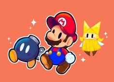 Mundo Super Mario, Super Mario Art, Mario Wii, Mario And Luigi, Paper Mario, Classic Video Games, Super Mario Brothers, Galaxy Art, Video Game Art