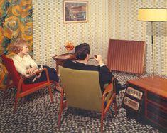 Where classic British interior design meets classic British hifi ... Quad ad from the 1950s