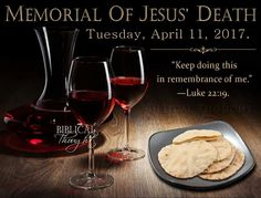 Memorial of Jesus' Death  Peace, Health, and Prosperity—Everyone's Dream! https://www.jw.org/en/jehovahs-witnesses/memorial/