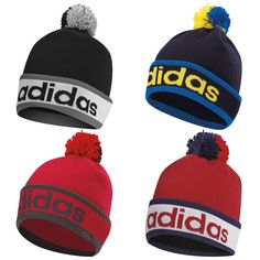 Adidas mens pom pom beanie hat - new knit #bobble cap #winter golf #sports therma,  View more on the LINK: 	http://www.zeppy.io/product/gb/2/401178863287/