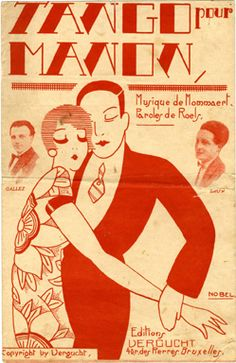 """""""Tango pour Manon"""" ~ 1920's Sheet music cover illustrated by Nobel ❤️"""