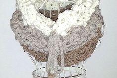 Scaldacollo crochet Cremino...goloso come il cioccolato!