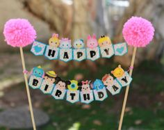 Print-It-Yourself (Digital Copy) Tsum Tsum Inspired Carnival Backdrop Banner**No physical item will be shipped Happy Birthday Clip Art, Happy Birthday Signs, Happy Birthday Cakes, Third Birthday, 4th Birthday Parties, Birthday Cake Toppers, Baby Birthday, Tsum Tsum Party, Teachers Day Card