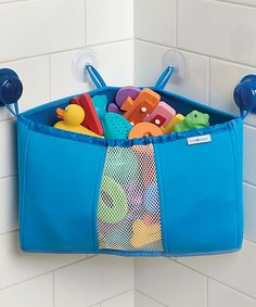 Another great find on #zulily! Blue Bathtub Corner Storage Basket by InterDesign #zulilyfinds