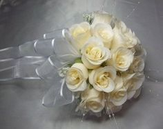 """Wedding Ivory Roses 8"""" round Bridal Bouquet customization colors available  by csisbridalboutique on Etsy, $34.15 plus $13.16 shipping+"""