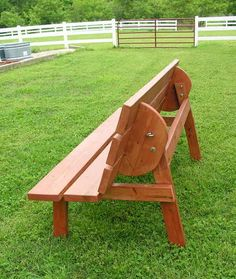 Convertible Bench/Table Construction Plans: