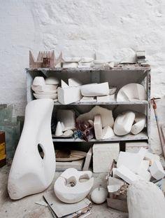 View of Barbara Hepworth's studio, now part of the Barbara Hepworth Museum and Sculpture Garden