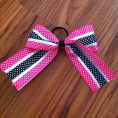 DIY cheer bow