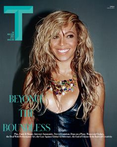 Beyonce Lets Loose For 'T' Magazine Cover!: Photo Beyonce draws some attention to her flashy necklace on the cover of T magazine's latest issue, out on newsstands now! The entertainer recently showcased… Blue Ivy, Louis Vuitton Dress, Beyonce Photos, T Magazine, Magazine Covers, Beyonce And Jay Z, Beyonce Beyonce, Rihanna, Beyonce Knowles