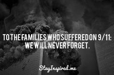 Re-pin and lets show out support for the families who suffered from the 9/11 attacks.