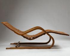 Chaise longue, model 39, designed by Alvar Aalto for Artek