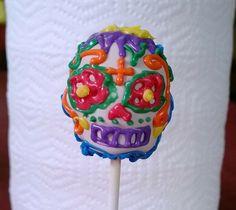 dia de los muertos cakes | Dia de Los Muertos cake pop.