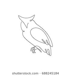 One line design silhouette of wise owl.vector illustration One line design silhouette of wise owl.vector illustration One line design silhouette of wise owl. One Line Tattoo, Line Art Tattoos, Bff Tattoos, Simple Owl Tattoo, Small Fox Tattoo, Owl Tattoo Design, Tattoo Silhouette, Owl Vector, Owl Logo