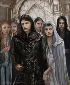 Half Noldor - Aredhel and Maeglin return by Ladyoftheflower.deviantart.com on @DeviantArt
