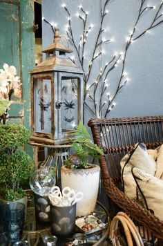Seasonal decor and plants at Botanica Gift Shop & Greenhouse.