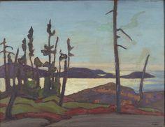 """Seacoast Landscape,"" Lawren S. Harris, oil on wood panel, 10 9/16 x 13 7/8"", Princeton University Art Museum."