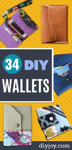 DIY Wallets - DIY Leather Business Card Wallet - Cool and Easy DIY Wallet Ideas - Fabric Duct Tape and Leather Crafts - Tutorial and Instructions for Making A Wallet - Cheap DIY Gifts Diy Gifts Cheap, Diy Gifts For Him, Diy Gifts For Friends, Diy Gifts For Boyfriend, Diy Keychain Wallet, Diy Wallet Bag, Diy Wallet Organizer, Wrap Wallet, Simple Wallet