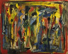 """Phantasy II  Norman Lewis (American, 1909–1979)    September 23, 1946. Oil on canvas, 28 1/8 x 35 7/8"""" (71.4 x 91.2 cm). Gift of Friends of Education"""
